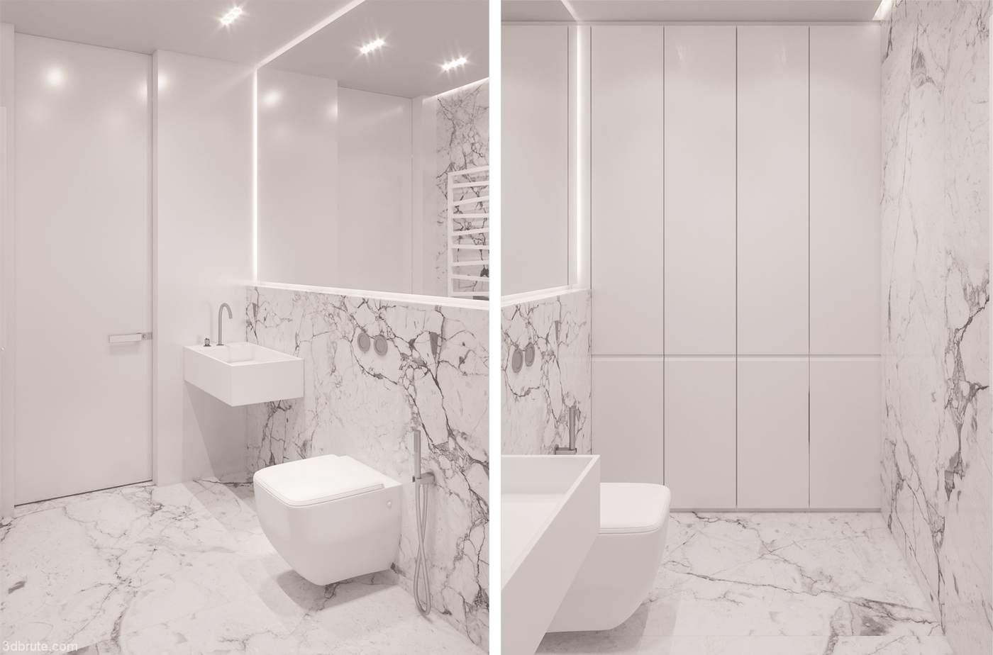 90 square meters design - Download -3d Models Free -3dbrute